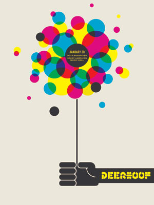 Deerhoof Poster Poster by Jason Munn