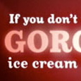 Oxtail font in ice cream ad