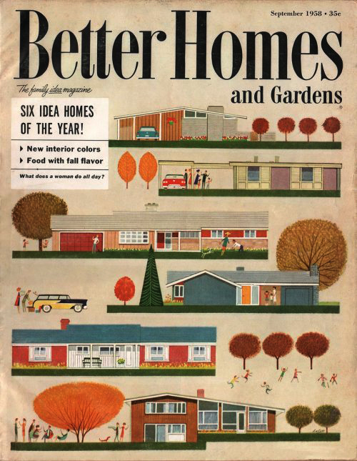 Better homes and gardens sept 1958 the mid century Bhg homes