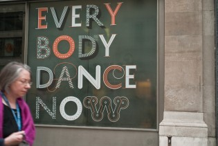 """Everybody Dance Now"" exhibition at the AIGA in NY, captured by Caren Litherland"
