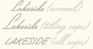 Lakside styles