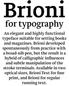 Brioni type specimen