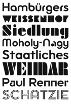 Dessau typeface specimen
