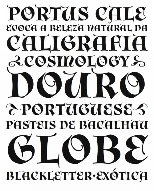 Orbe typeface specimen