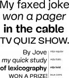 Mija fonts