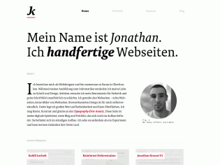 FF Tundra Web in use at jonathan-krause.de