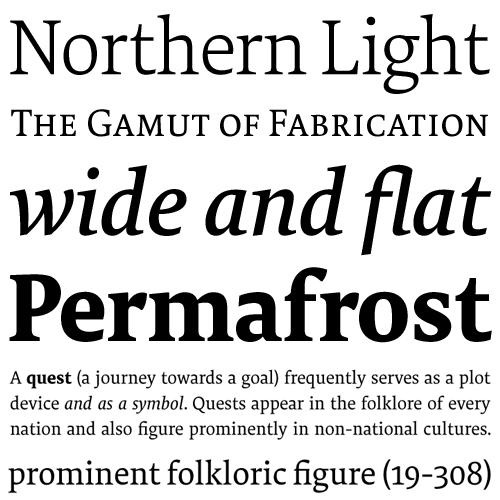Tundra fonts