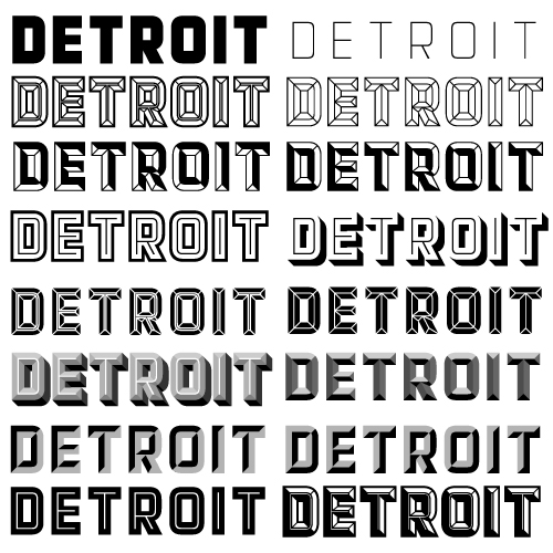 Detroit fonts