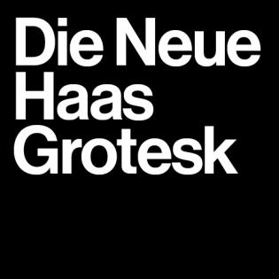 Neue Haas Grotesk fonts