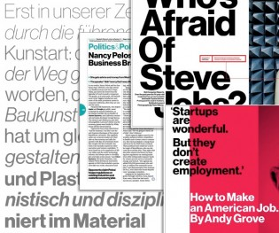 Neue Haas Grotesk for Bloomberg Businessweek, courtesy of FontsInUse.com