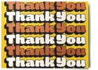 """Thank You"" print from House Industries"