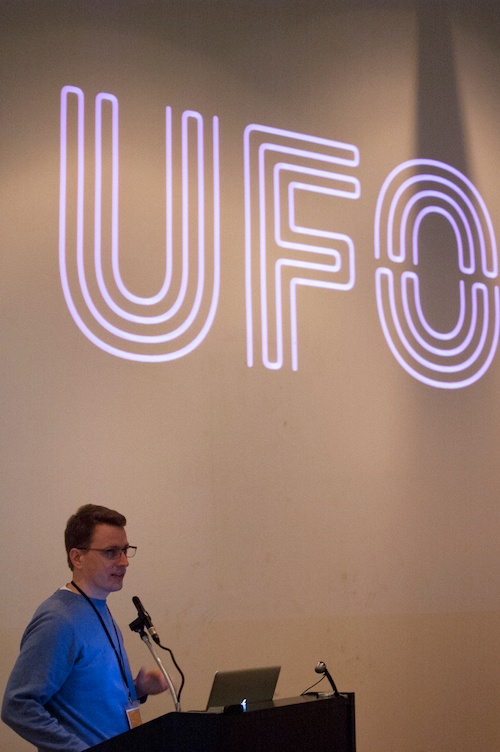 "Tal Leming, ""Benevolent Dictator of the UFO for Life"", presents UFO3."