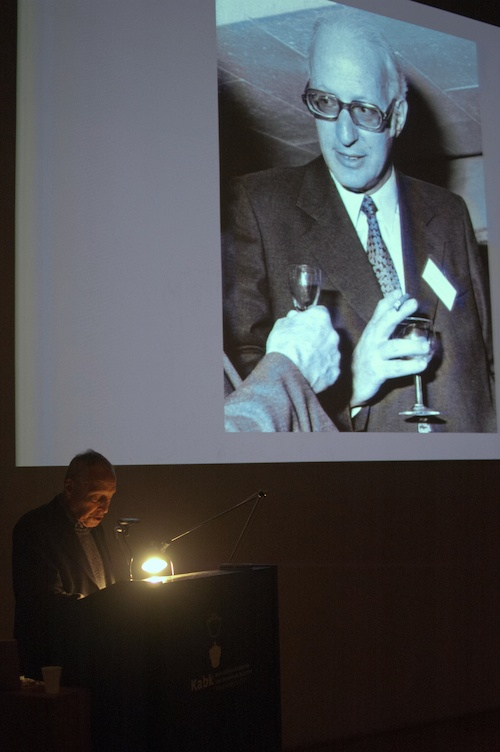 Jost Hochuli speaking about Rudolf Hostettler.