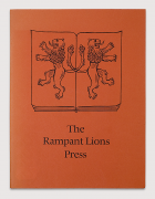 Will &amp; Sebastian Carter: The Rampant Lions Press, 1982 (drawing by Berthold Wolpe)