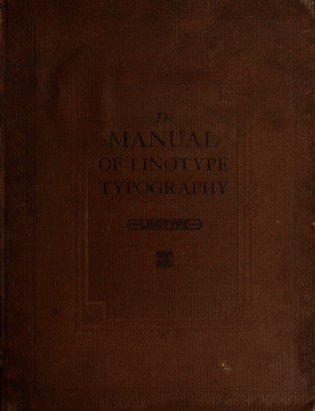 The Manual of Linotype Typography (cover)