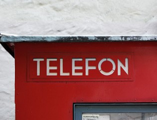 Fasting's original telephone booth. Photo: Frode Bo Helland.