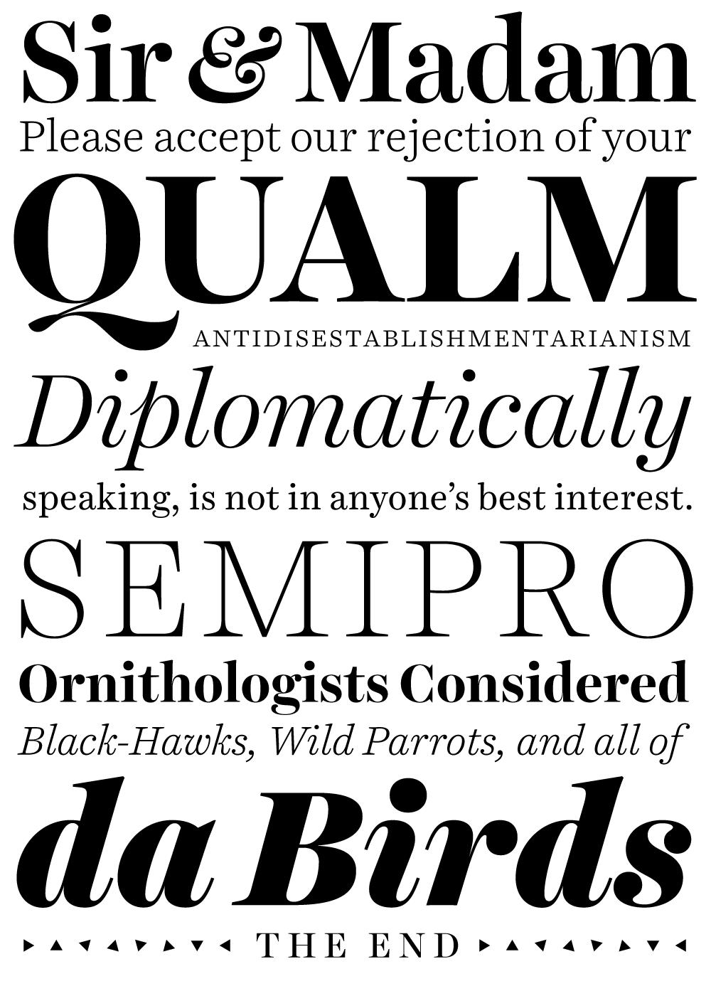 Harriet Typographica Specimen