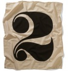 Worth Numeral for a flour sack towel in House Industries' merch shop
