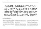 Aften Italic alphabet