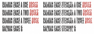 Balkan Sans styles