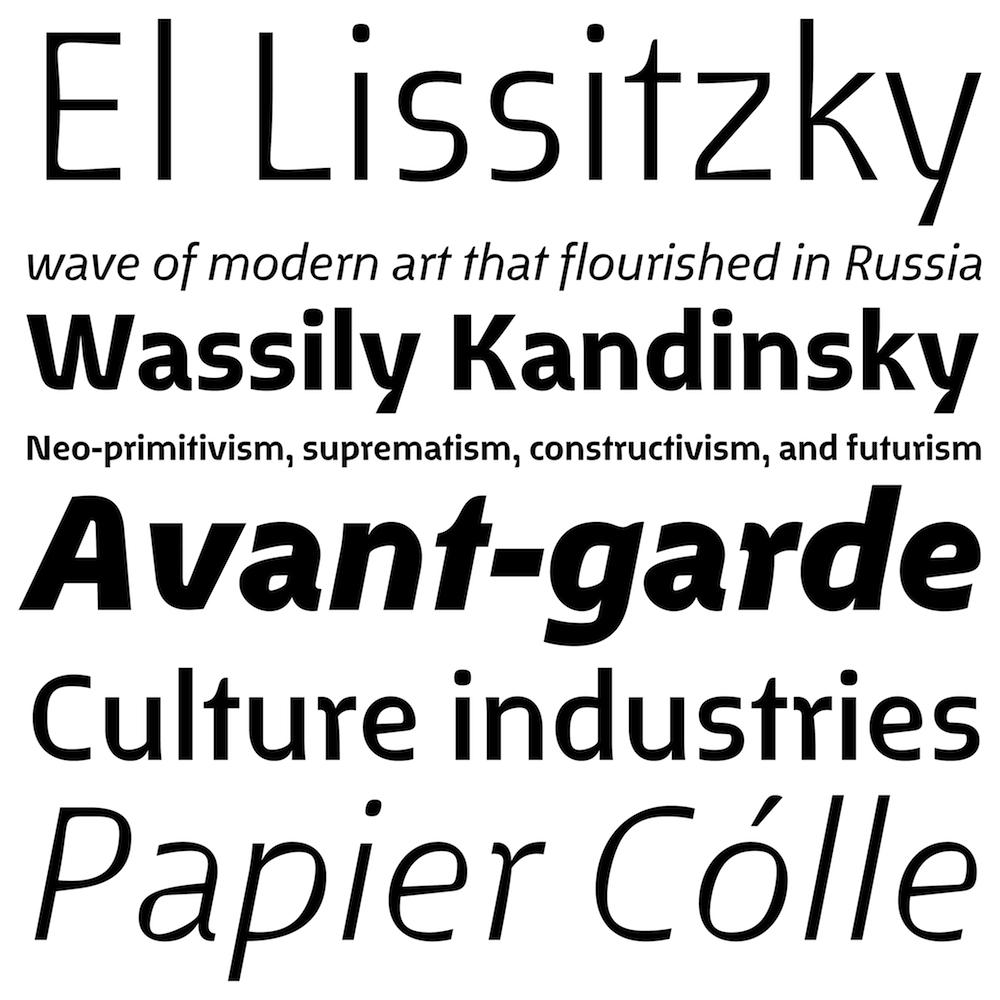 Fenland font family