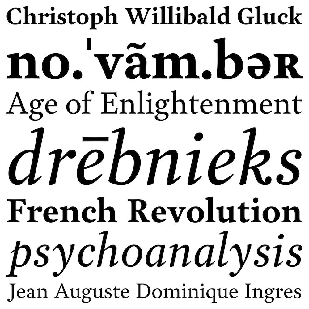 Garvis fonts