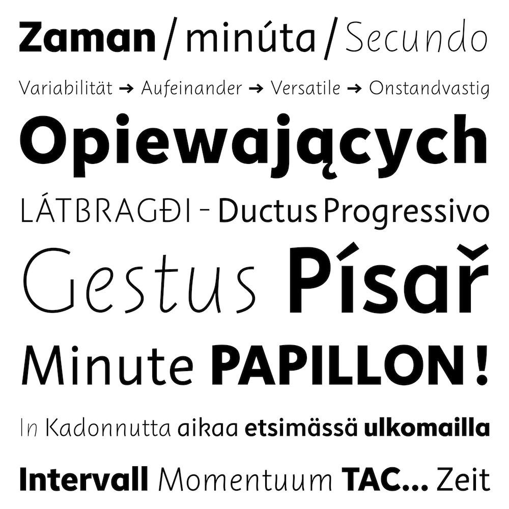 Instant font family