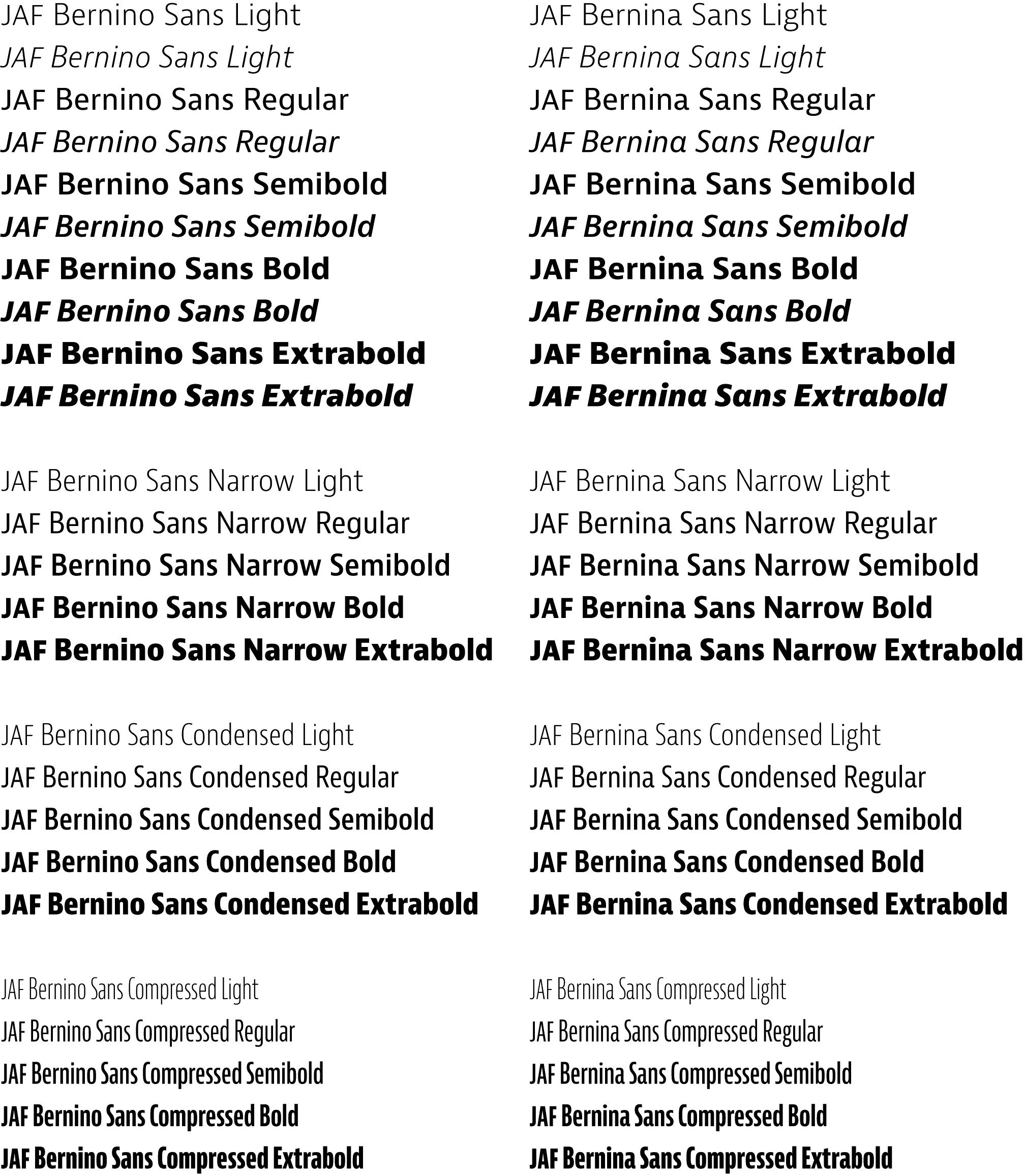 Jaf Bernini Sans Typographica