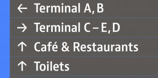 JAF Bernino Sans for wayfinding