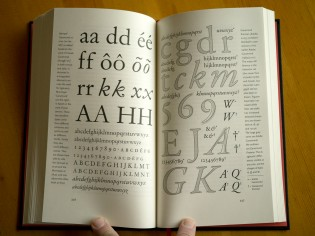Expanded and illustrated comparison of different cuts of Garamond.