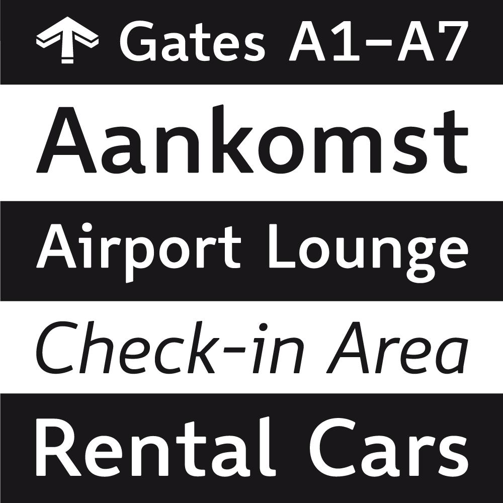 Wayfinding Sans font family
