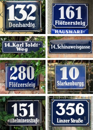 Viennese street signs