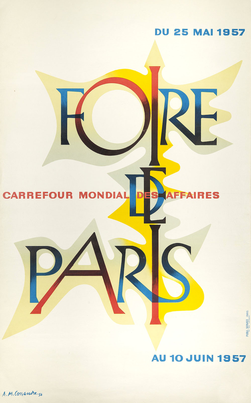 Start the year off right with A M Cassandre's 1956 poster for Foire de Paris.