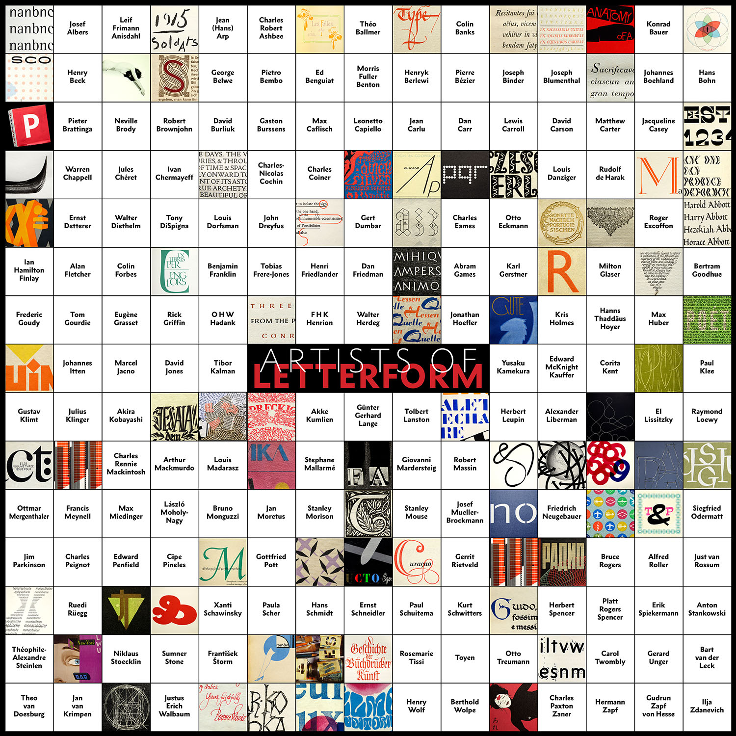 Letterform Archive 2014 Calendar Gameboard as of 11 08