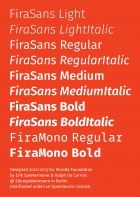 Fira Sans and Mono styles