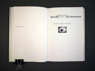 Max Bill kontra Jan Tschichold