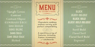 Charcuterie font styles