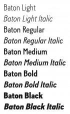 Baton styles