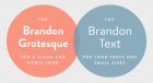 Brandon Grotesque vs Brandon Text
