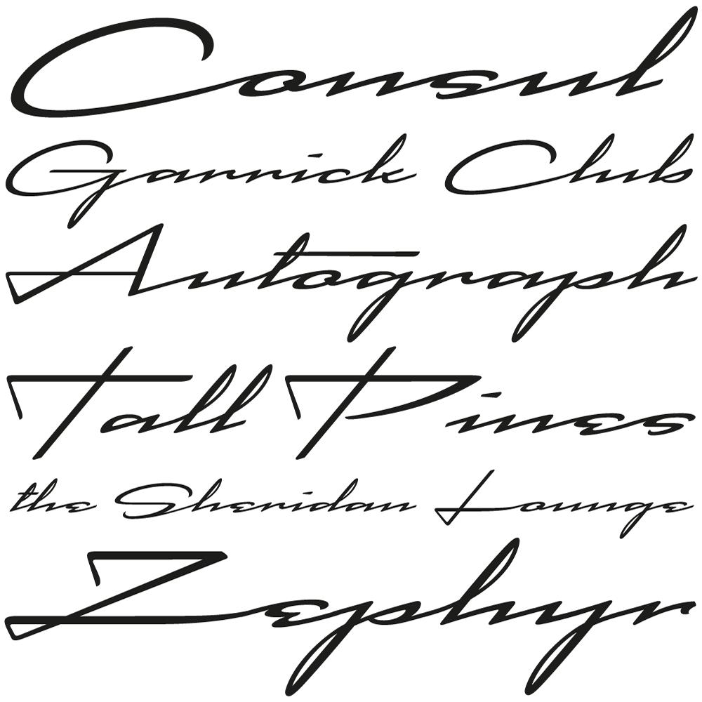 Cadogan fonts specimen