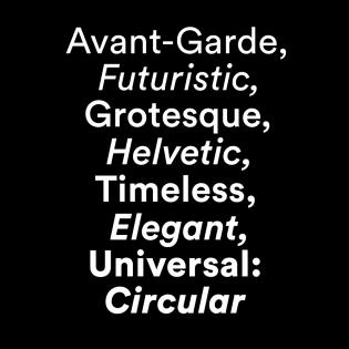 Circular fonts specimen