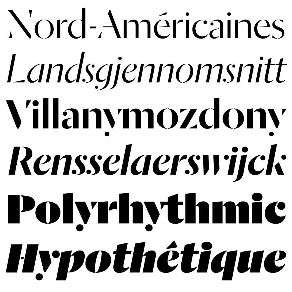 Dala Moa fonts specimen