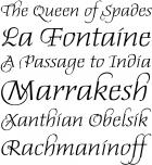 Daphne               Script fonts specimen