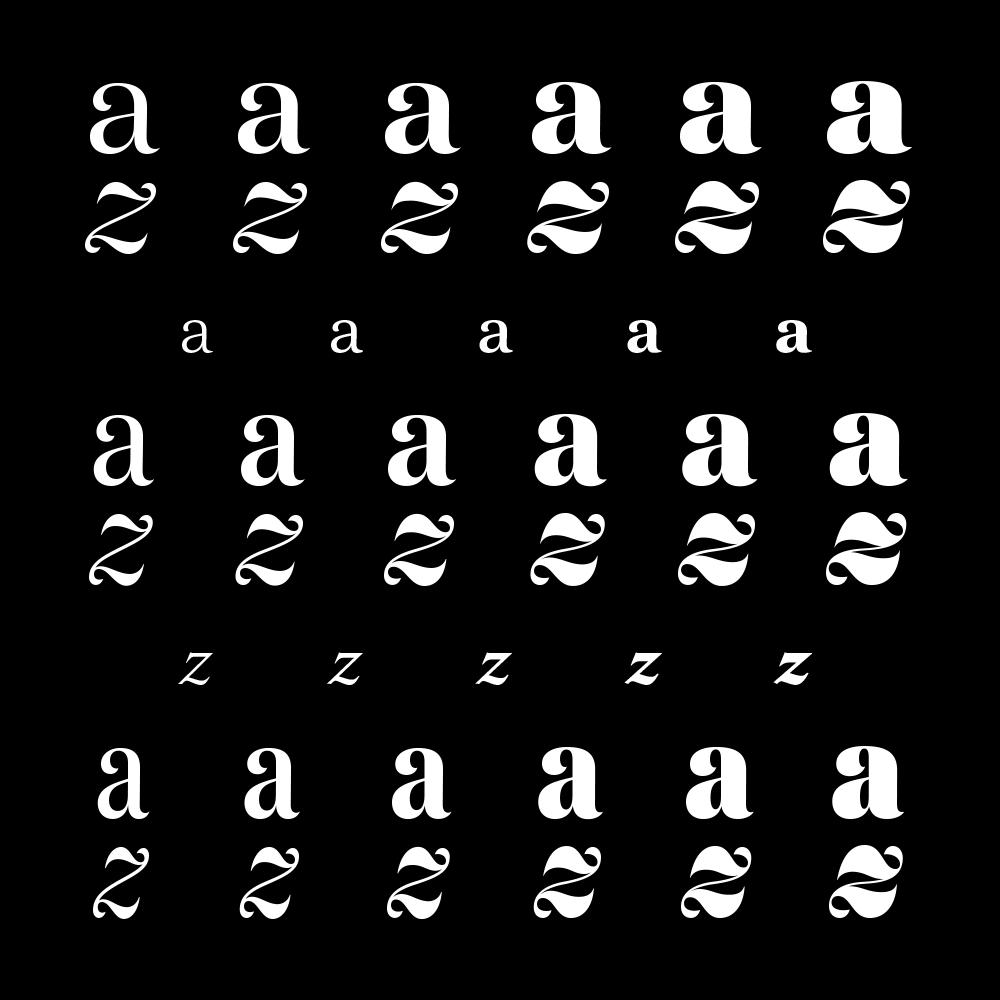 Domaine fonts specimen