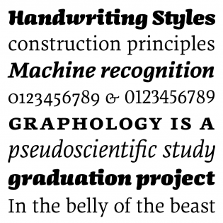FF Dora fonts specimen