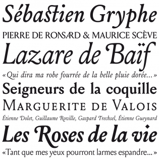 Louize fonts specimen