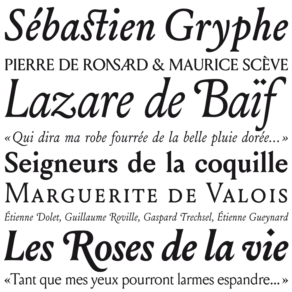 Louize fonts specimen