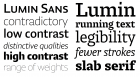 Lumin Sans and Slab