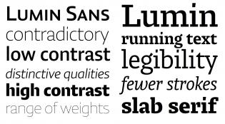 Lumin Sans and Slab