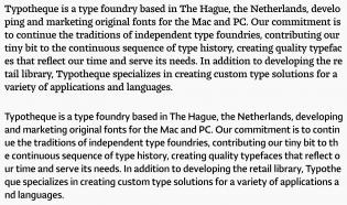 Lumin Slab and Sans text sample